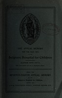 view Annual report of the Belgrave Hospital for Children : 1944.