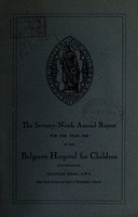 view Annual report of the Belgrave Hospital for Children : 1945.