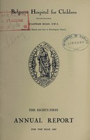 view Annual report of the Belgrave Hospital for Children : 1947.