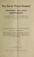 view Report of the Eye, Ear and Throat Hospital for Shropshire and Wales : 1944.
