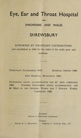 view Report of the Eye, Ear and Throat Hospital for Shropshire and Wales : 1947.