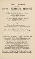 view Annual report of the Royal Northern Hospital : 1944.