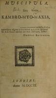 view Muscipula, sive Kambro-myo-maxia. [Poem] / [E. Holdsworth].
