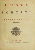 view Lusus poetici / [Anon].