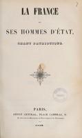 view La France et ses hommes d'état : chant patriotique.