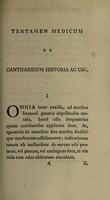 view Tentamen medicum de cantharidum historia ac usu / [William Alexander].
