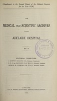 view The Medical and scientific archives of the Adelaide Hospital. no. 4.